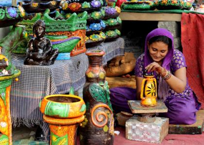 Pottery, India.